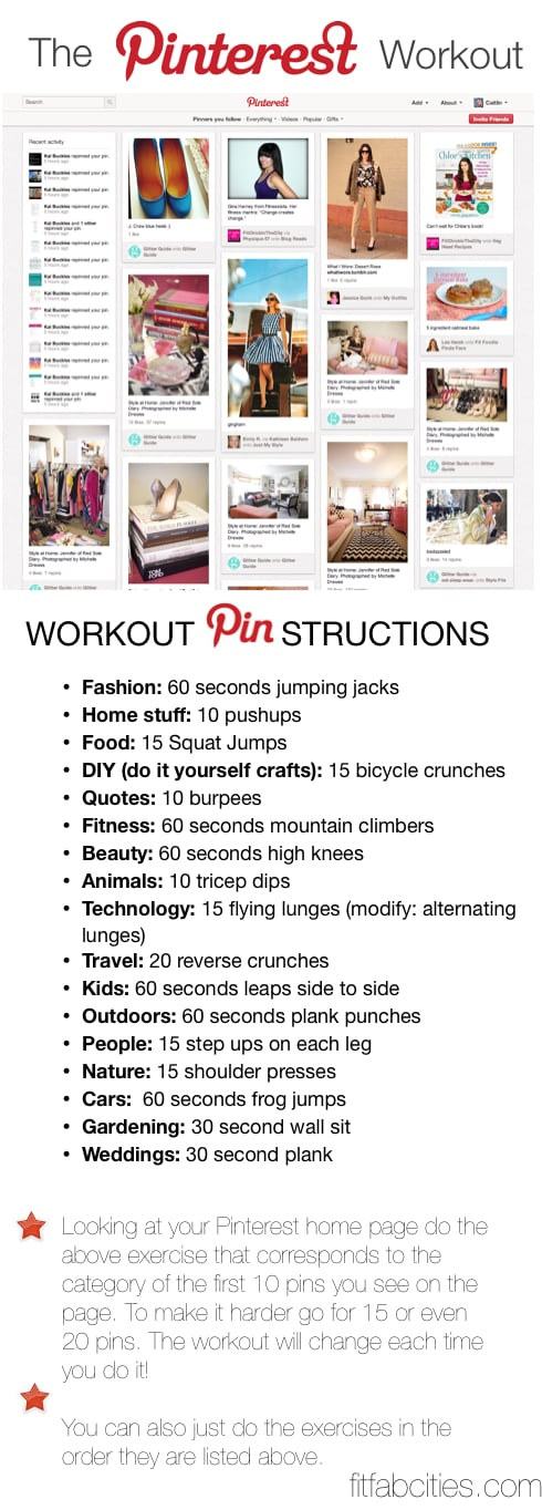 Fit Fab Cities Pinterest Workout