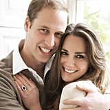 Prince William and Kate Middleton posed for a more casual engagement session with Mario Testino in 2010. Source: Mario Testino