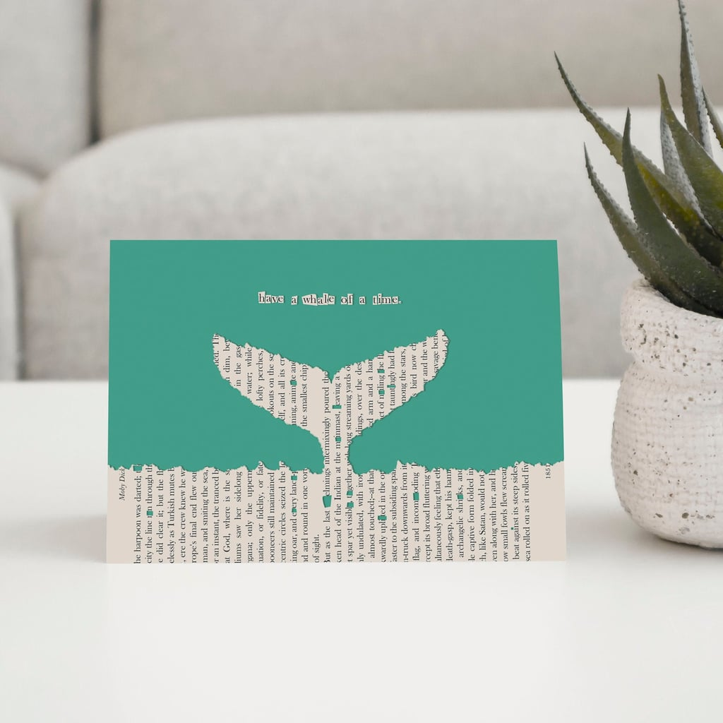 Book Page Greeting Card