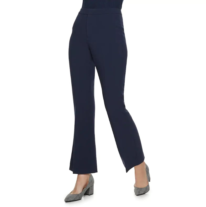 Navy Kick Flare Pants
