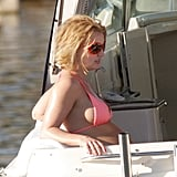 She kicked back during her January 2007 boating excursion in LA.