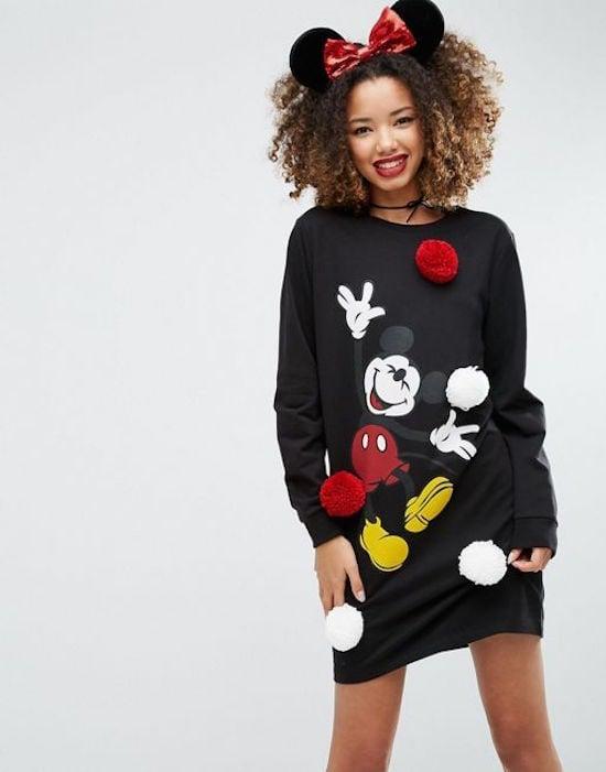 ASOS Holidays Dress with Disney Pom Poms ($64)