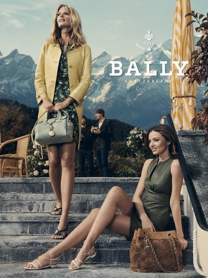 Miranda Kerr and Julie Stegner look flawless in the latest Bally Spring 2012 ads. Source: Fashion Gone Rogue