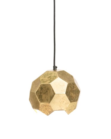 Gold polyhedron pendant ($100)