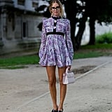 And Equally as Sophisticated With a Long-Sleeved Mini Dress