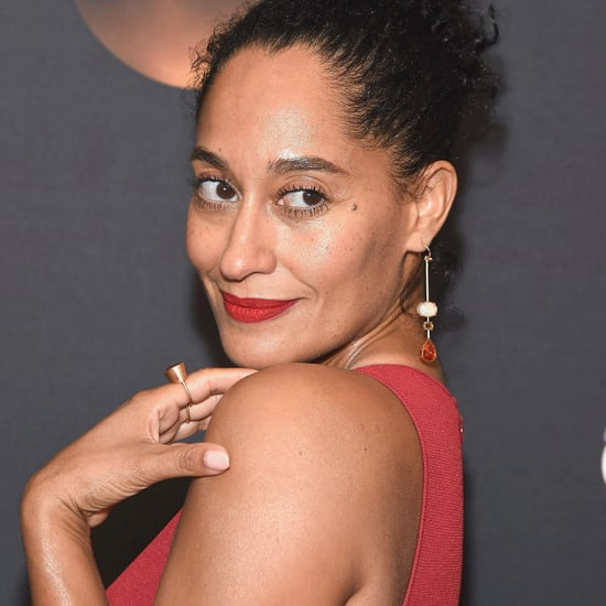 Tracee Ellis Ross Wears Red Lipstick to the Gym