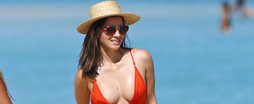 Olivia Munn's One-Piece Swimsuit Plunges Further Than You Thought Possible
