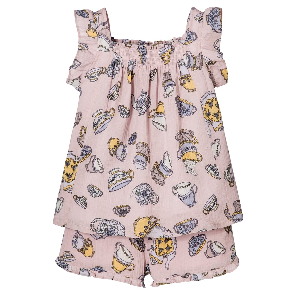 Toddler Girls' Blush Tea Party Printed Tank Top and Short Set ($20)