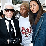 And Karl Lagerfeld Posed For Photos With Pharrell and His Wife, Helen Lasichanh