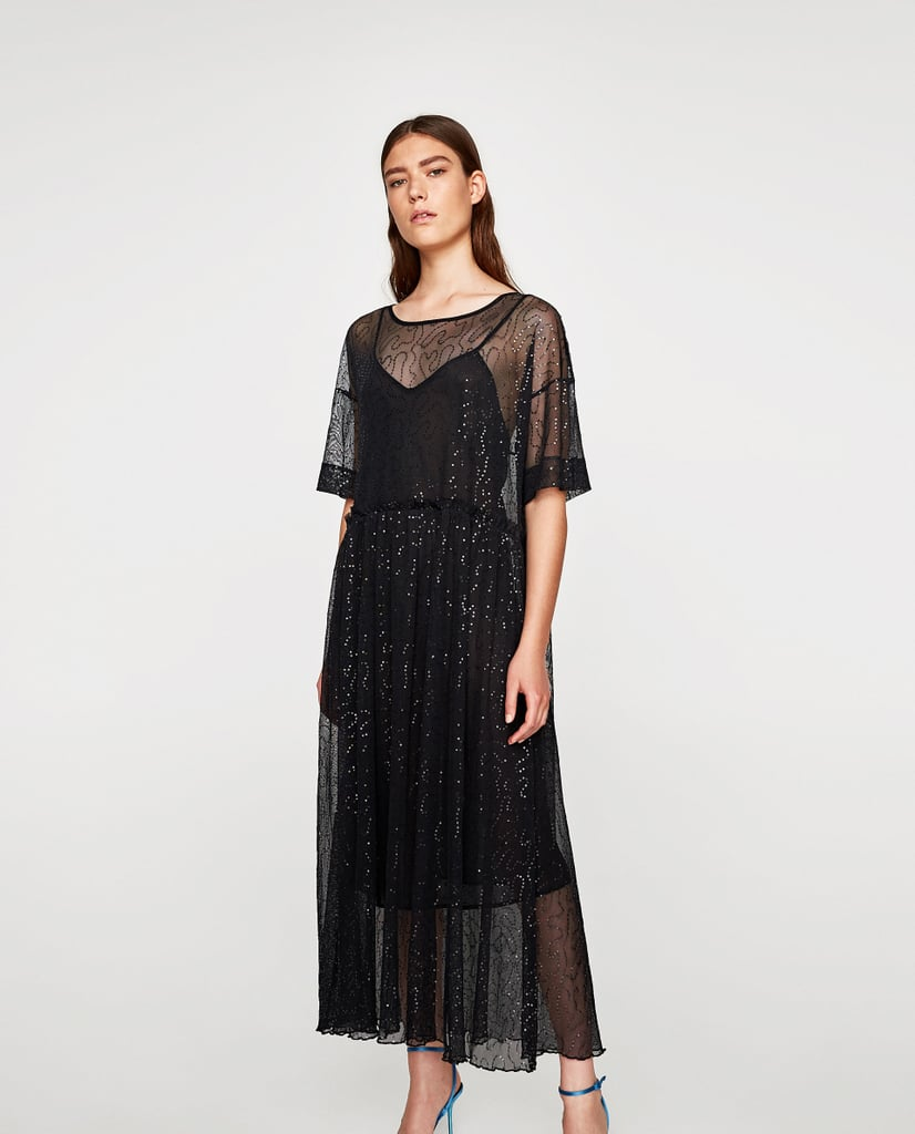 Zara Sequinned Tulle Dress (£30)