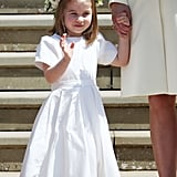 Princess Charlotte rocked a flower crown and pretty white dress at Prince Harry and Meghan Markle's wedding.