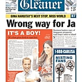 The front page of The Gleaner, from Jamaica, on July 23.
