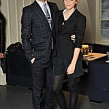 Emma Watson went monochrome in embellished shorts for  Gucci's Very Classy Dinner with Derek Blasberg at Soho House.