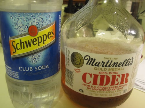 Apple Whiskey Spritzers
