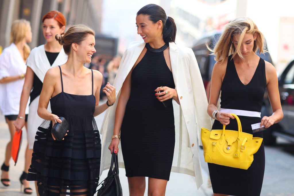 Lily Kwong and a pack of chic showgoers were on the same wavelength in black and white.