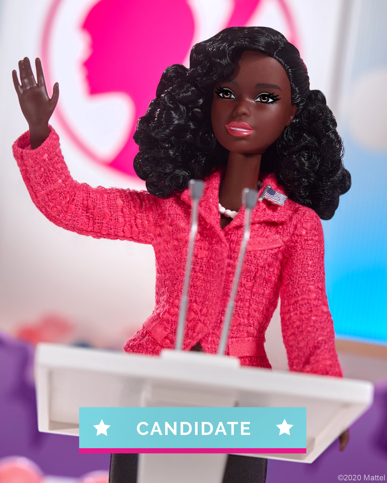 2020 *NEW* Barbie For President Campaign Team Gift Set W// 4 Dolls New In Box