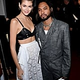 Kaia Gerber Wore a Loewe Bra and Skirt to the Fashion Awards