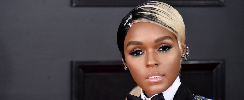 Janelle Monáe Looks Like a Glam Cruella de Vil at the Grammys