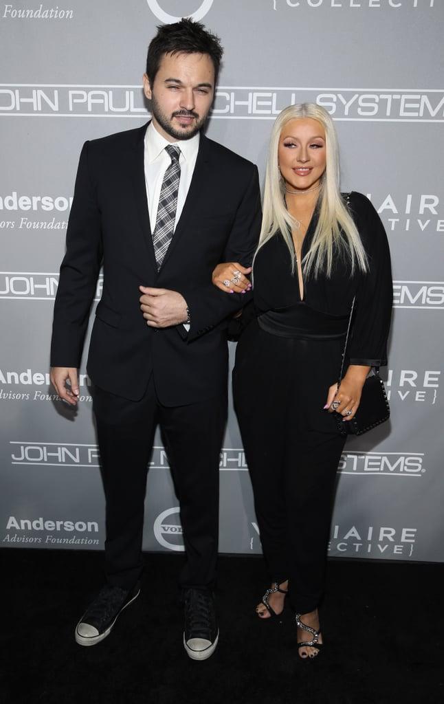 Pictured: Christina Aguilera and Matthew Rutler