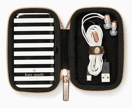 Kate Spade Earbud & Portable Charger Set