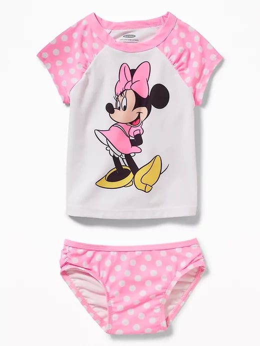 33694c253ae1d Old Navy Minnie Mouse Rashguard Swim Set | Best Disney Swimsuits For ...