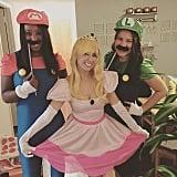 Mario, Luigi, and Princess Peach