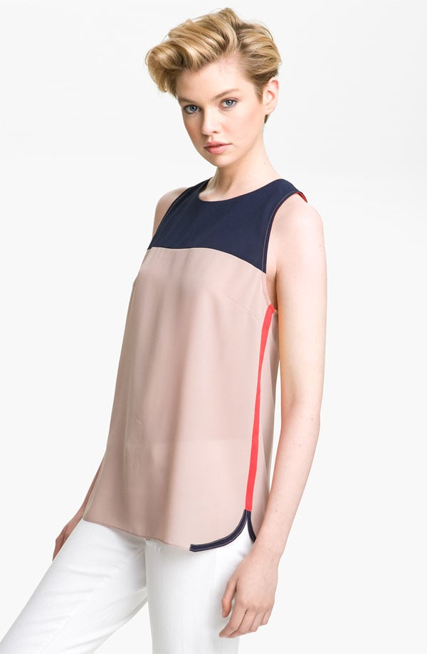 Channel the sporty side of tennis stars like Venus and Serena Williams with a silky tank that packs an athletic-inspired edge.  Pure Sugar Colorblock Tank ($48)