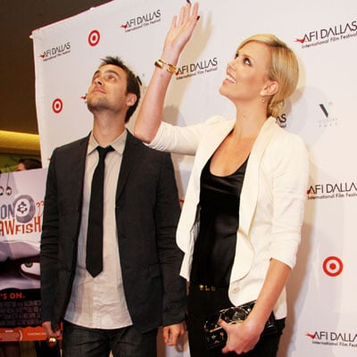Charlize Theron and Stuart Townsend at a Battle of Seattle Screening