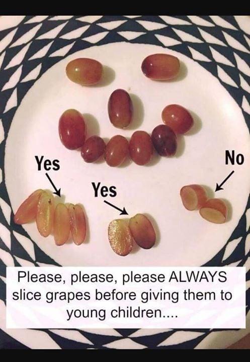 The Correct Way To Cut Grapes Avoid Choking Hazard