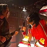 Alec Baldwin and Russell Brand in Rock of Ages. Photos courtesy of Warner Bros.