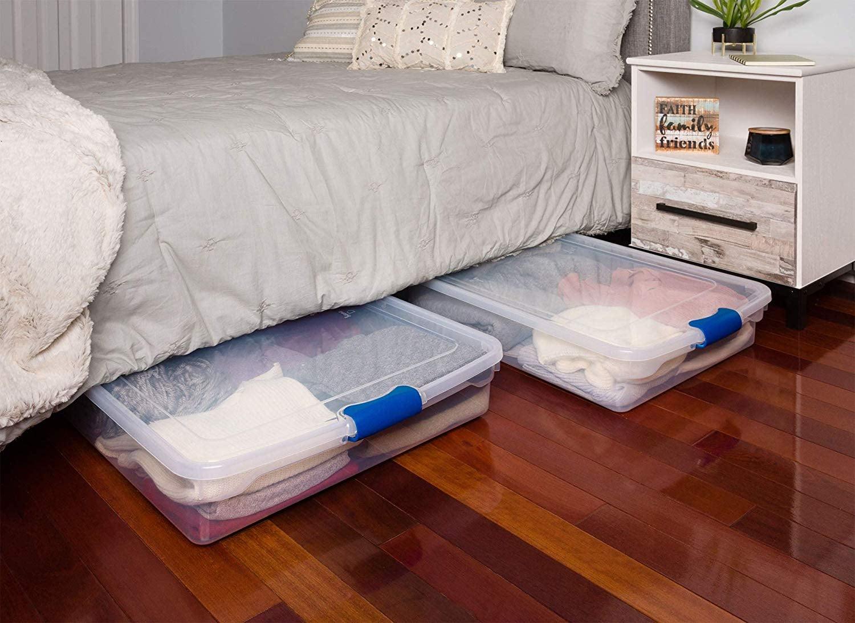 Homz Plastic Underbed StorageBoxes | 33 Game-Changing ...