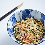Peanut-Sesame Courgette Spaghetti With Radishes