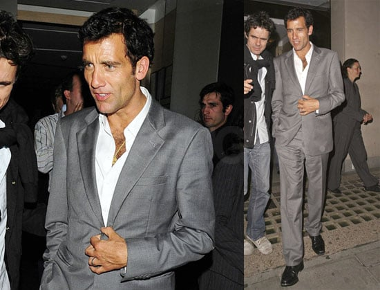 Photos of Clive Owen and His Wife Leaving Nobu in London