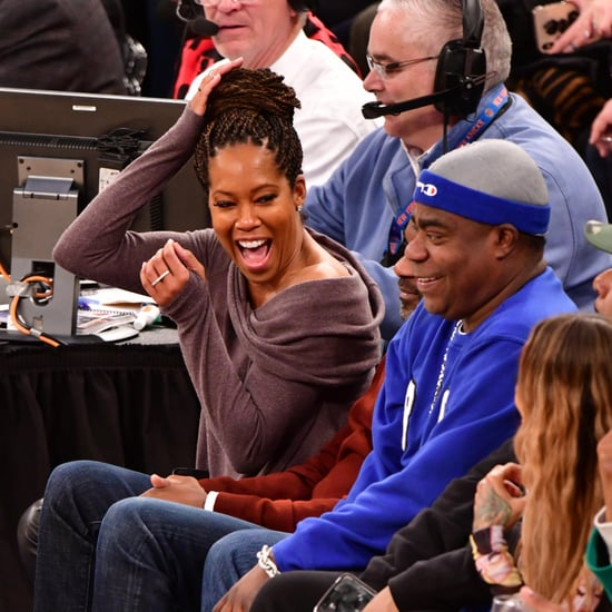 Joel Embiid Jumping Over Regina King at Knicks Game Video