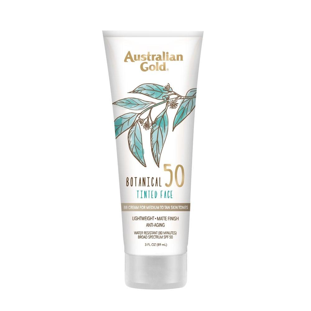 Australian Gold Botanical SPF 50 Tinted Face Sunscreen Lotion — Medium to Tan