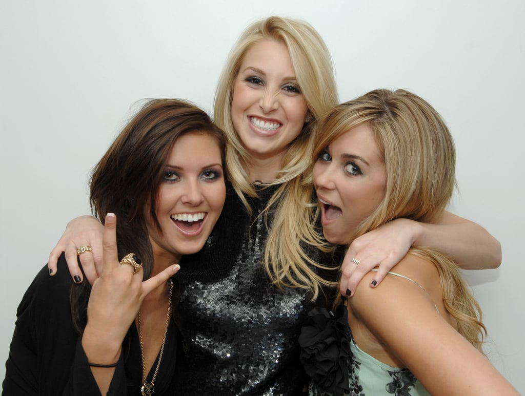 Audrina Patridge, Whitney Port, and Lauren Conrad struck a silly pose at a finale party for The Hills in NYC in April 2007.
