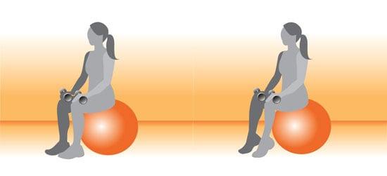 Exercise Ball Exercise for Calves