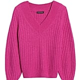 Aire Ribbed V-Neck Sweater