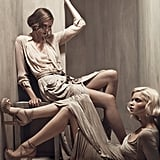 Karlie Kloss, Abbey Lee Kershaw for Donna Karan, by Patrick Demarchelier
