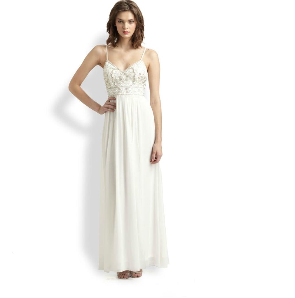 Sue Wong Beaded Maxi Dress ($450) | Beach Wedding Dress Inspiration ...