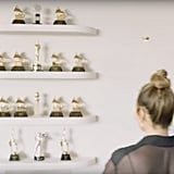 Who doesn't have a wall filled with all their trophies? If you're John Legend, it means something a little more impressive (ours is basically just soccer trophies from grade school), as he's displayed all of his Grammy and Oscar winnings in one creative space.