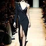 Knowing how sexy she looks in the label, we think think tuxedo-inspired gown would fit her quite nicely.