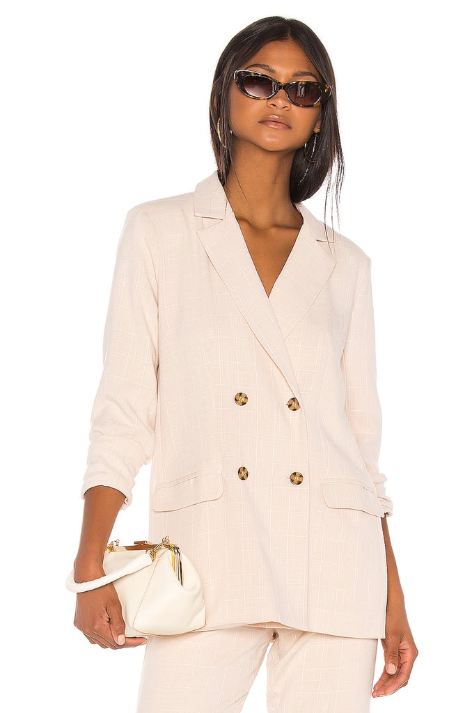 Song of Style Kroy Blazer in Beige Check from Revolve.com