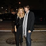 Rachel Zoe and her husband, Rodger, strike a stylish pose during NYFW.