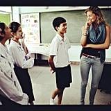 Doutzen Kroes visited with children in Thailand.  Source: Instagram User DoutzenKroes1
