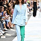 A Two-Tone Suit From the Cynthia Rowley Runway at New York Fashion Week