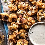 Spicy Cauliflower Cheese Bites With Tahini Ranch