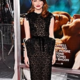 Emma Stone in black at the Crazy Stupid Love premiere in NYC.