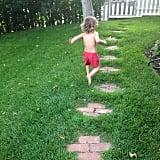 Arthur Bleick got a running start on his mom, Selma Blair. Source: Instagram user therealselmablair