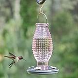 Perky-Pet Cranberry Hobnail Decorative Glass Hummingbird Feeder